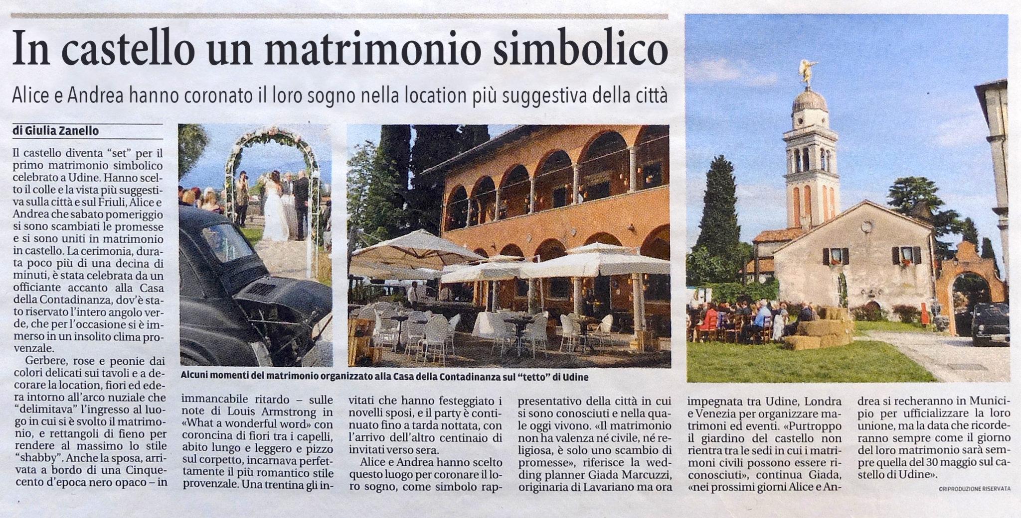 Matrimonio Simbolico Chi Lo Celebra : Rassegna stampa giada marcuzzi weddings